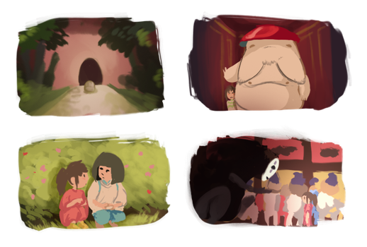 spirited away studies [7/8/14] by Skelefrog