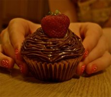 Chocolate and Strawberry cake by gee231205