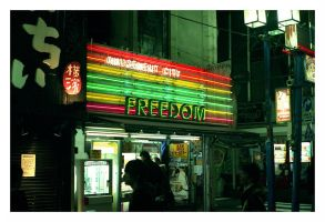 The freedom of a Japanese amusement shop.. by RobVinc