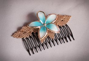 Hair comb: Another Flower by Lleye