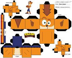 crash bandicoot cubeeecraft by melopruppo
