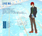 Free! - Tachimukai Hanya (original/fan character) by IdentityConflict