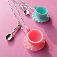 Tea Party Necklaces by AsianBunni