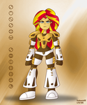 Bionicle Equestria: Sunset Shimmer by ScoBionicle99