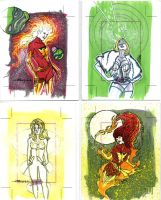sketch cards dangerous divas6 by TomKellyART