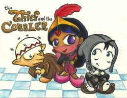 The Thief and the Princess and the Cobbler by Kasandra-Callalily