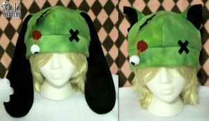 Zombie Bunny and Kitty Fleece Hats by MDHatters