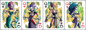 Inkjava Playing Cards [queens] by inkjava