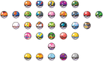 Dream World sprite-like Poke Ball vectors by LDEJRuff