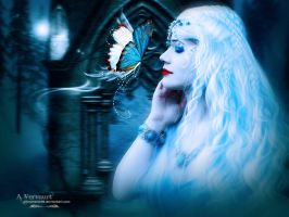 The bleu butterfly angel by annemaria48