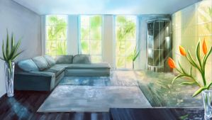 living room by IndiCreates