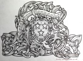 Crest and Beast by Tattoo-Design