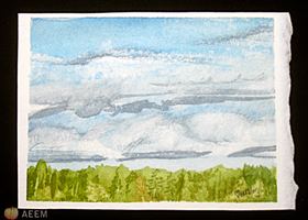 Cottage Country 2012 ACEO 1 by unSpookyLaughter
