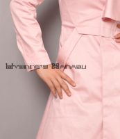 Pink Cotton Ruffles Coat 12 by yystudio