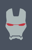 War Machine Helmet Minimalist Design by burthefly