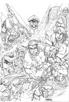 Street Fighter II by JeanSinclairArts