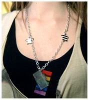 Boom Box Beat Necklace by deconstructedstars
