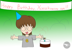 Xcess's Birthday by DinoLover09