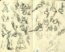 Sketch Page 2 Poses by KCretcher