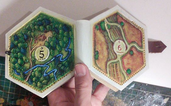Settlers of catan hex wallet :-) full back picture by Bubblypies