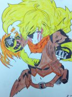 Battle damage Yang-colored by AnimeArtist296