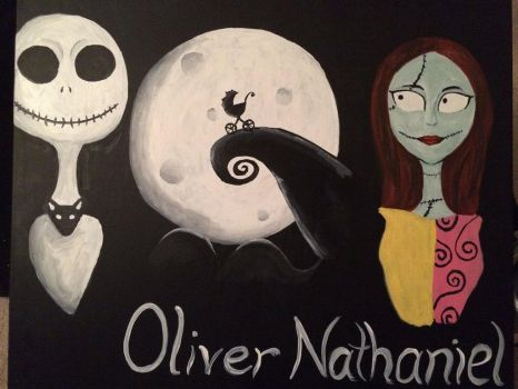 Nightmare Before Christmas Baby Painting by PaintsOfHome