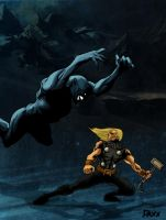 Thor Vs Frost Giant by daxxbondoc