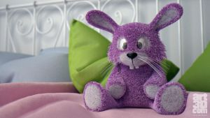 Plush Rabbit Design - Bed - 3D Render by ChrRambow