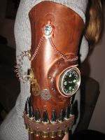Steampunk upper arm part - close-up by Firefly182