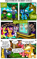Pony Comic - Equestrian Hobbit Logic by BellCountyComics