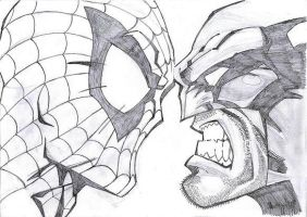 spiderman and wolverine by coboy28