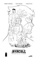 Invincible the end of all things inks by JoeyVazquez
