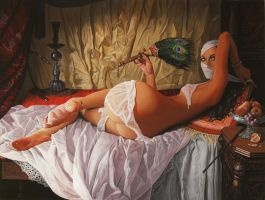 Odalisque - oil painting by borda