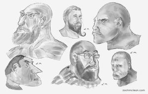 Head Concept Sketches by ZacharyMcLean