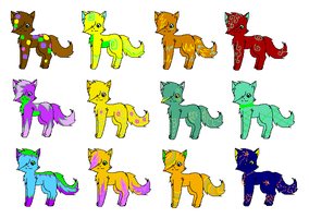 Pumpkin Adoptables (cats) by xSilverSymphony