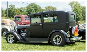 A Flat Black Ford Street Rod by TheMan268