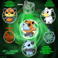 Fuse Corp Hexafusion-Bears by rizegreymon22