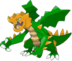 Druddigon Shiny Artwork by Altruis-the-King