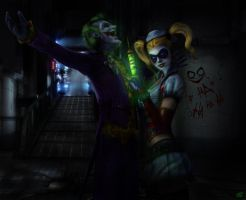 Joker and Harley by ToxicQuinn