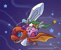 Kirby and Landia by K1000SL