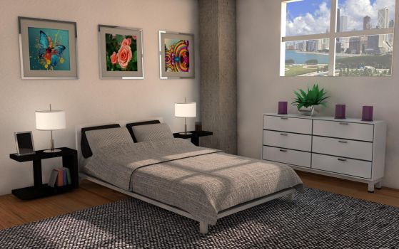 Bedroom on Chicago Hill by PlaviDemon