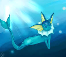 Vaporeon Speedpaint by PrincessTabb