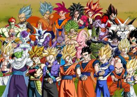 Dragon Ball Z Heroes and Villains by SuperSaiyanCrash