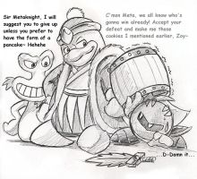 Dedede PWNZ Metaknight by Mickeymonster