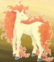Rapidash by Allieaii