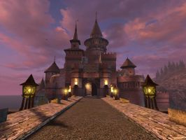 Fantasy castle background 2 by indigodeep