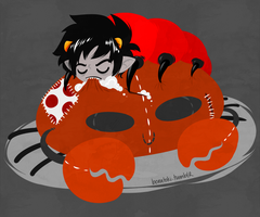 Karkat grub by Cursed-cat