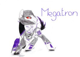 Megatron from Transformers: Prime as a pony by SpeedFeather