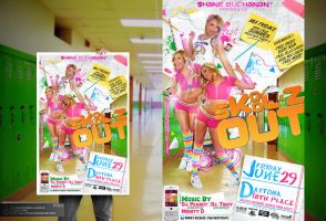 Skool'z Out Party Flyer by Gallistero