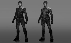 Characters concept sketch male by Ron-faure